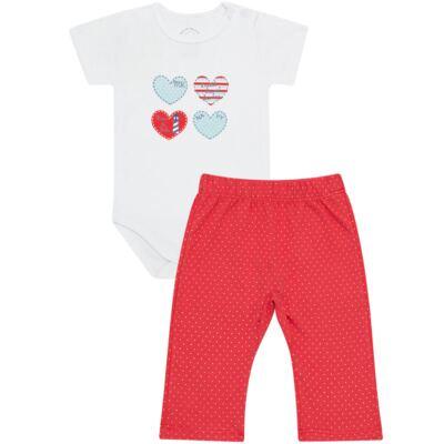 Imagem 1 do produto Body curto com Calça para bebe em Pima Cotton Supreme Sailor Girl - Mini & Kids - CBCC541 BODY M/C COM CALCA SUEDINE NAVY-GG