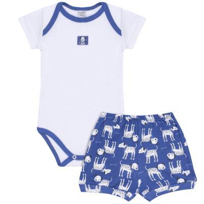 Imagem 1 do produto Body curto com Shorts em high comfort Dalmatians Blue - Vicky Lipe - 18280001.37 CONJ.BODY C/SHORTS - SUEDINE-P