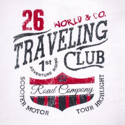 Imagem 3 do produto Blusão com Calça para bebe em moletom Traveling - Mini Mix - LTCM08 CONJUNTO MOLETOM TRAVELING BRANCO/MARINHO -G
