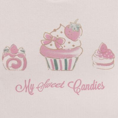 Imagem 3 do produto Blusão com Calça para bebe em moletom Cupcake - Mini Mix - LTCM03 CONJUNTO MOLETOM CUPCAKE ROSA BB/CORAL-G