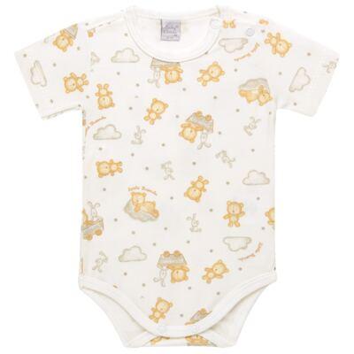 Imagem 1 do produto Body curto para bebe em suedine Naturé - Baby Classic - BSM511.294 BODY M/C AVULSO - SUEDINE CAQUI-M