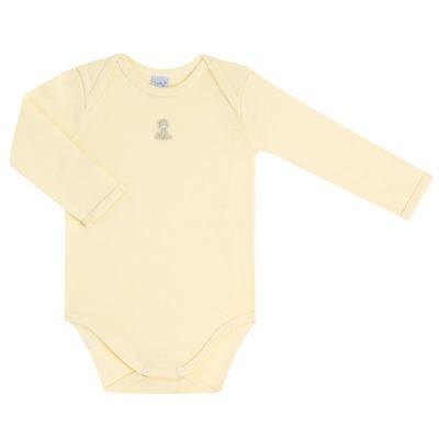 Imagem 2 do produto Body longo com Calça para bebe em suedine Amarelo - Vicky Lipe - 1822071.170 BODY M/L TRANSP MIJÃO SUEDINE HC AMARELO-RN