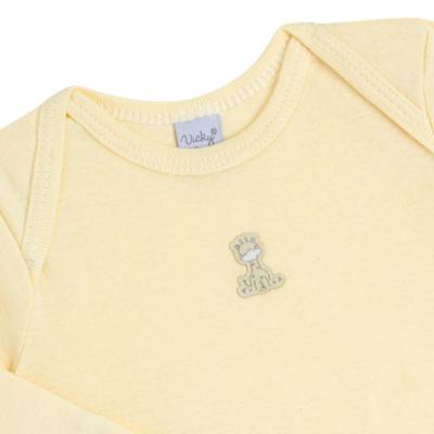 Imagem 3 do produto Body longo com Calça para bebe em suedine Amarelo - Vicky Lipe - 1822071.170 BODY M/L TRANSP MIJÃO SUEDINE HC AMARELO-RN
