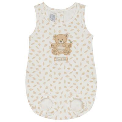 Imagem 1 do produto Banho de Sol para bebe em algodão egípcio c/ jato de cerâmica e filtro solar fps 50 Nature Little Friend Bear - Mini & Kids - MCSL0001.18 MACACÃO REGATA - SUEDINE-GG