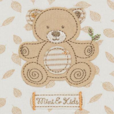 Imagem 2 do produto Banho de Sol para bebe em algodão egípcio c/ jato de cerâmica e filtro solar fps 50 Nature Little Friend Bear - Mini & Kids - MCSL0001.18 MACACÃO REGATA - SUEDINE-GG