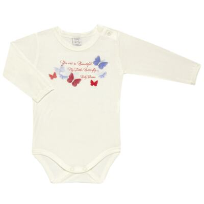 Imagem 2 do produto Body c/ Calça frufru e Faixa para bebe em viscolycra Butterflies - Baby Classic - 1621628 BODY COM MIJÃO COM FRU FRU VISCOLYCRA BUTTERFLY-G