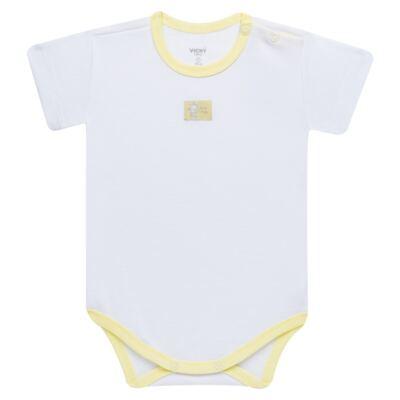 Imagem 2 do produto Body curto com Shorts para bebe em high comfort Girafinha - Vicky Baby - 1828-714 CJ. BODY C/SHORTS GIRAFA SUEDINE-GG