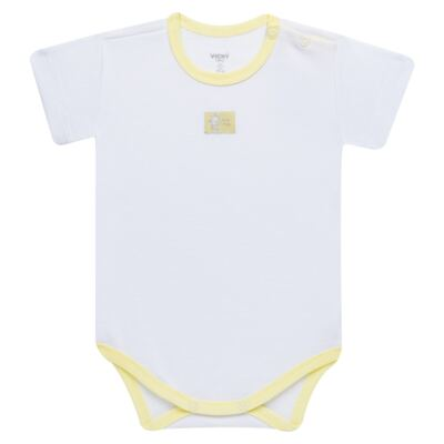 Imagem 2 do produto Body curto com Shorts para bebe em high comfort Girafinha - Vicky Baby - 1828-714 CJ. BODY C/SHORTS GIRAFA SUEDINE-M
