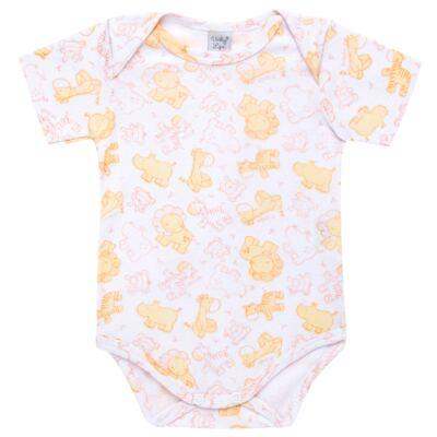 Imagem 1 do produto Body curto para bebe em high comfort Safari - Vicky Lipe - 2151161.312 BODY M/C TRANSP. SUEDINE HC ZOO-G