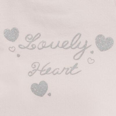 Imagem 3 do produto Blusão com Calça para bebe em moletom Lovely Heart - Mini Mix - LTCM04 CONJUNTO MOLETOM LOVELY HEART ROSA BB/MESCLA-3