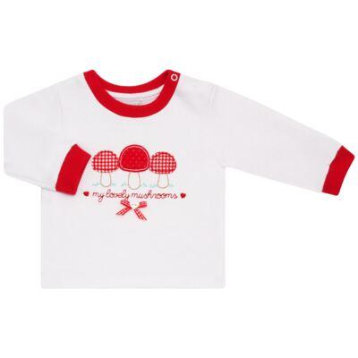 Imagem 2 do produto Blusa com Calça para bebe moletom Cogumelos - Vicky Lipe - 873274 BLUSÃO M/L C/ CALÇA MOLETON COGUMELO-M