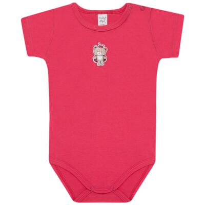 Imagem 2 do produto Body curto com Shorts para bebe em suedine Ladybug - Vicky Lipe - CSH562 CJ. BODY MC C SHORT SUEDINE URSA-2