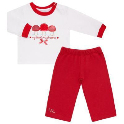 Imagem 1 do produto Blusa com Calça para bebe moletom Cogumelos - Vicky Lipe - 873274 BLUSÃO M/L C/ CALÇA MOLETON COGUMELO-G
