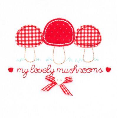 Imagem 3 do produto Blusa com Calça para bebe moletom Cogumelos - Vicky Lipe - 873274 BLUSÃO M/L C/ CALÇA MOLETON COGUMELO-3