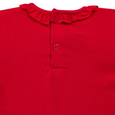Imagem 3 do produto Body gola frufru para bebe em cotton Vermelho - Baby Classic - 02040001.05 BODY M/C C/ FRUFRU N GOLA COTTON VERMELHO-G