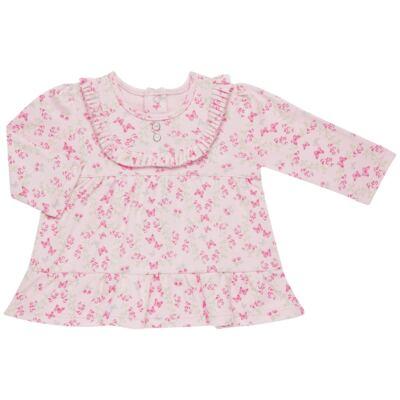 Imagem 2 do produto Bata com Legging para bebe em algodão egípcio c/ jato de cerâmica e filtro solar fps 50  Butterfly Garden - Mini & Kids - CJBG0001.84 CON.BATA M/L BABADOS C/LEGGING-SUEDINE-P