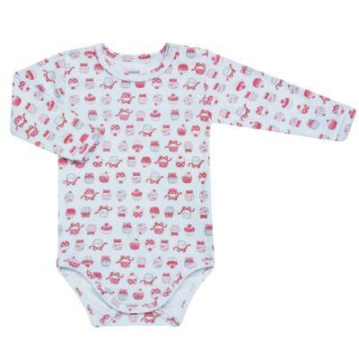 Imagem 2 do produto Body longo com Calça para bebe em suedine Cupcakes - Vicky Baby - 1824-704 CUPCAKE CBDL CJ BODY ML C/CALCA SUEDINE -P