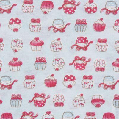 Imagem 3 do produto Body longo com Calça para bebe em suedine Cupcakes - Vicky Baby - 1824-704 CUPCAKE CBDL CJ BODY ML C/CALCA SUEDINE -P
