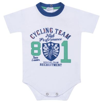 Imagem 2 do produto Body com Shorts em suedine Burnett- Baby Classic - 22441415 BODY MC C/ BERMUDA SUEDINE BICYCLE -GG