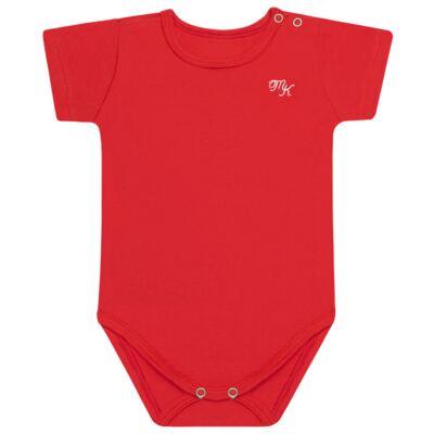 Imagem 1 do produto Body curto para bebe em Pima Cotton Supreme Vermelho Pitanga - Mini & Kids - BSM93 BODY MC SUEDINE VERMELHO-GG