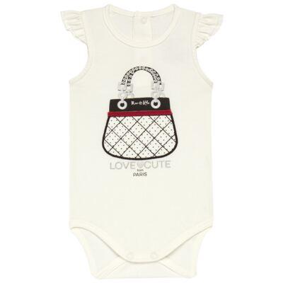 Imagem 2 do produto Body curto com Shorts para bebe em cotton algodão egípcio Love Cute  - Mini & Kids - CJSH0001.233 BODY C/MANGA BAB.E SHORTS - COTTON-GG