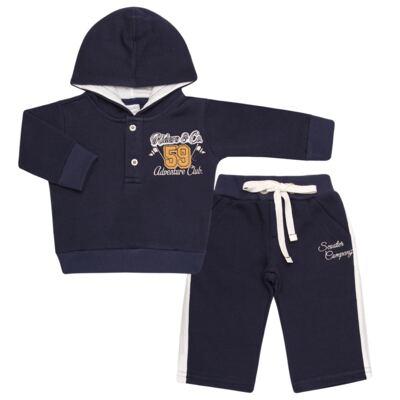 Imagem 1 do produto Blusão com capuz e Calça em moletom Wharton - Baby Classic - 59175 CONJ.BLUSÃO C/CAPUZ MOLETON SCOOTER-M