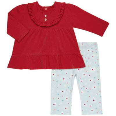 Imagem 1 do produto Bata com Legging para bebe em algodão egípcio c/ jato de cerâmica e filtro solar fps 50  Adore - Mini & Kids - CJBG0001.86 CON.BATA M/L BABAODS C/LEGGING-SUEDINE-P
