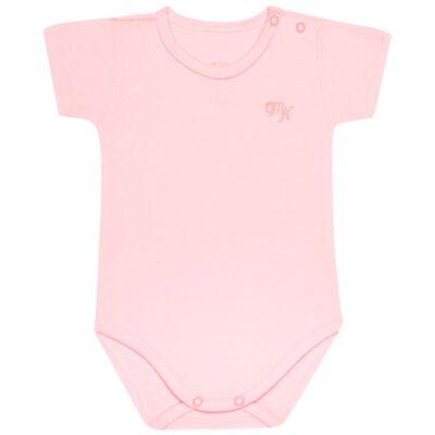 Imagem 1 do produto Body curto para bebe em Pima Cotton Supreme Rosa - Mini & Kids - BSM90 BODY MC SUEDINE ROSA BB-P