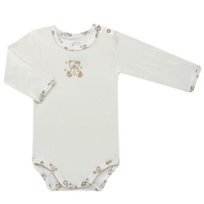Imagem 2 do produto Body longo c/ Calça para bebe em suedine Ivory Bear - Dedeka - DDK16501/E100 Conjunto de Body Suedine Urso Bege -P