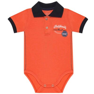Body curto para bebe em spandex Beach Paradise - Mini & Kids - BPCE1396 BODY POLO C/ GOLA PRONTA EXPAND FASHION BOY 2-P