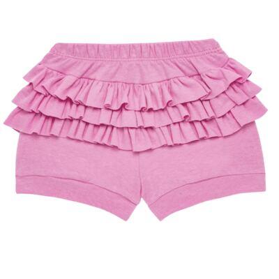Imagem 4 do produto Body curto com Shorts para bebe em algodão egípcio c/ jato de cerâmica e filtro solar fps 50 L'hortensia- Mini & Kids - BSBA1746 CONJ. BODY MC C SHORTS SUEDINE HORTENCIAS-M
