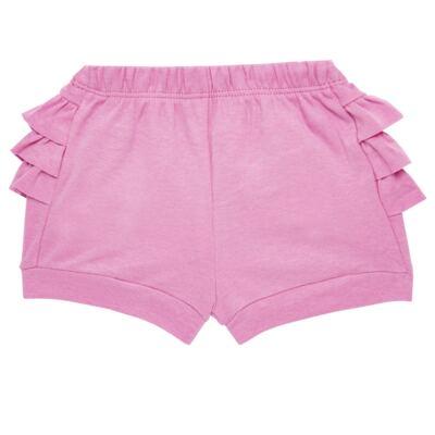Imagem 5 do produto Body curto com Shorts para bebe em algodão egípcio c/ jato de cerâmica e filtro solar fps 50 L'hortensia- Mini & Kids - BSBA1746 CONJ. BODY MC C SHORTS SUEDINE HORTENCIAS-M