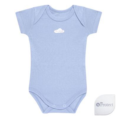 Imagem 1 do produto Body curto para bebe em suedine Baby Protect Azul - Mini & Kids - BDTC1735 BODY M/C TRANSP. SUEDINE AZUL-GG