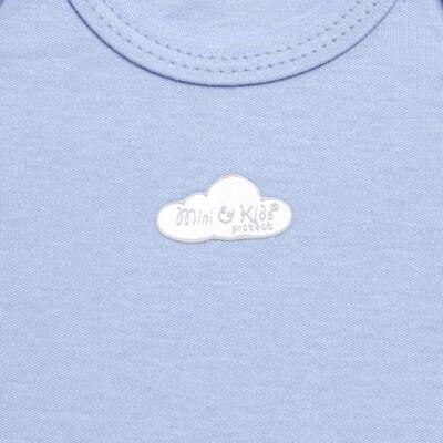 Imagem 2 do produto Body curto para bebe em suedine Baby Protect Azul - Mini & Kids - BDTC1735 BODY M/C TRANSP. SUEDINE AZUL-GG