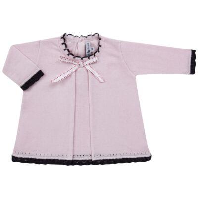 Imagem 2 do produto Vestido longo c/ Calça para bebe em tricot Anabel - Mini Sailor - 17954264 VESTIDO COM MIJAO TRICOT ROSA BEBE-9-12