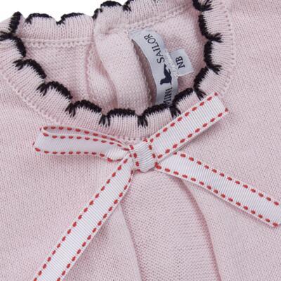 Imagem 3 do produto Vestido longo c/ Calça para bebe em tricot Anabel - Mini Sailor - 17954264 VESTIDO COM MIJAO TRICOT ROSA BEBE-9-12