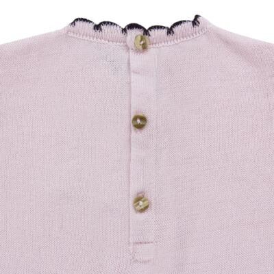 Imagem 4 do produto Vestido longo c/ Calça para bebe em tricot Anabel - Mini Sailor - 17954264 VESTIDO COM MIJAO TRICOT ROSA BEBE-9-12