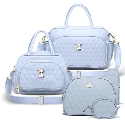 Imagem 1 do produto Bolsa maternidade para bebe Veneza + Frasqueira Térmica Milão + Kit Acessórios Golden Koala Azul - Classic for Baby Bags