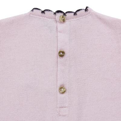 Imagem 4 do produto Vestido longo c/ Calça para bebe em tricot Anabel - Mini Sailor - 17954264 VESTIDO COM MIJAO TRICOT ROSA BEBE-6-9
