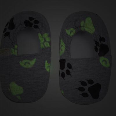 Imagem 3 do produto Pantufa em malha Lobo - Cara de Criança - P2753 LOBO P PANTUFA M/MALHA -25/26