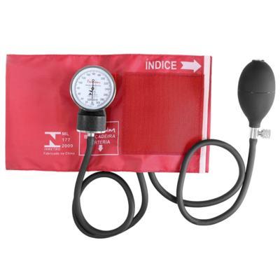 Imagem 2 do produto Kit Esteto Duplo com Aparelho de Pressão Vermelho Premium