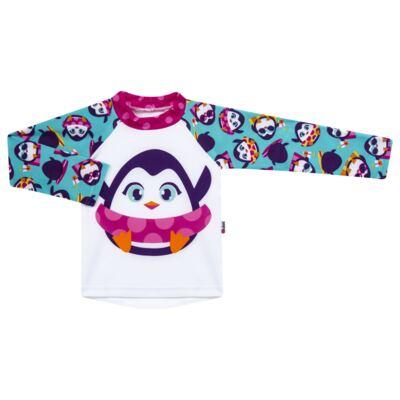 Imagem 2 do produto Conjunto de banho Pinguim: Camiseta + Maiô - Puket - KIT PK PINGUIM Camiseta + Maio Pinguim Puket-9-12