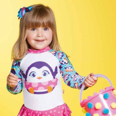Imagem 6 do produto Conjunto de banho Pinguim: Camiseta + Maiô - Puket - KIT PK PINGUIM Camiseta + Maio Pinguim Puket-9-12