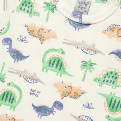 Imagem 2 do produto Body curto para bebe em suedine Dinossauros - Vicky Lipe - 02060001.34 BODY M/C - SUEDINE-G