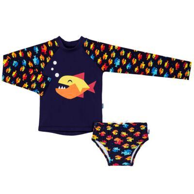 Imagem 1 do produto Conjunto de banho Piranha: Camiseta + Sunga - Puket - KIT PK PIRANHA Camiseta + Sunga Piranha Puket-6