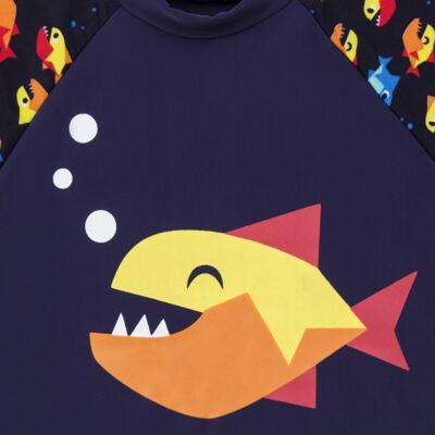 Imagem 3 do produto Conjunto de banho Piranha: Camiseta + Sunga - Puket - KIT PK PIRANHA Camiseta + Sunga Piranha Puket-6