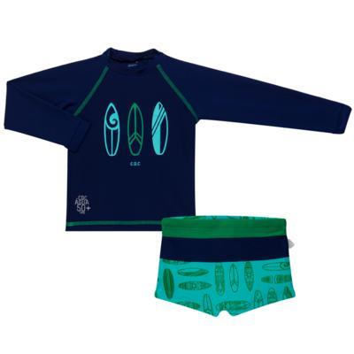 Imagem 1 do produto Conjunto de Banho Malibu: Camiseta surfista + Sunga - Cara de Criança - KIT 1 2573: SB2573+CSAL2573 SUNGA E CAMISETA PRANCHAS DE SURF-4