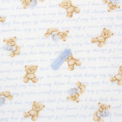 Imagem 3 do produto Manta para bebe em algodão egípcio c/ jato de cerâmica e filtro solar fps 50 Maternity Blue Bear - Mini & Kids - MSD1657 MANTA AVULSA SUEDINE URSO MENINO 2