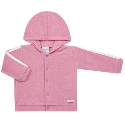 Imagem 2 do produto Casaco c/ capuz e Calça para bebe em soft Rosa - Tilly Baby - TB0172020.10 CONJ. CASACO COM CALÇA SOFT ROSA-P