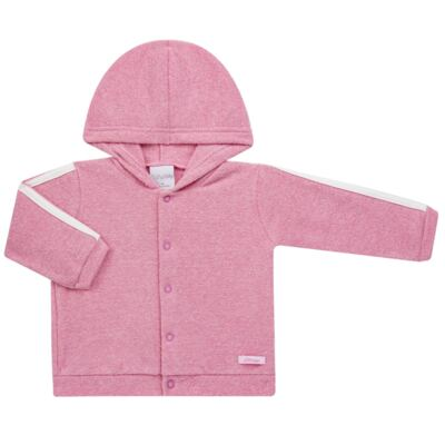 Imagem 2 do produto Casaco c/ capuz e Calça para bebe em soft Rosa - Tilly Baby - TB0172020.10 CONJ. CASACO COM CALÇA SOFT ROSA-2